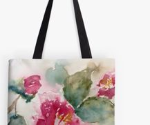 Totebag with Hibiscus